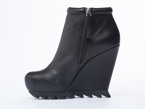Camilla Skovgaard In Black Ankle Wedge Boot