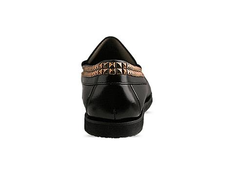 Caminando In Black Brush Off Studs Loafer Mens