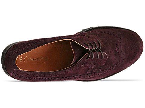 Caminando In Purple Suede Wing Tip Ripple Sole