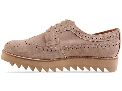 Caminando In Sand Suede Wing Tip Ripple Sole