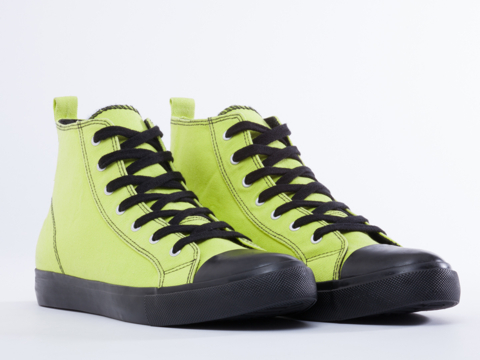 Cheap Monday In Lime Punch Base High Top Mens
