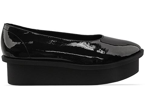 Cheap Monday In Black Patent Form Ballerina