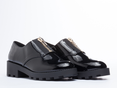 Cheap Monday In Black Patent Go Tractor