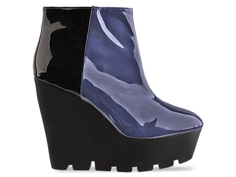 Cheap Monday In Black And Blue Patent Monolit
