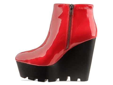 Cheap Monday In Red Patent Monolit