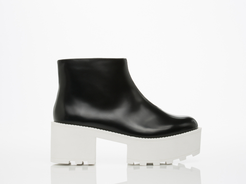 Cheap Monday In Black White Tractor High