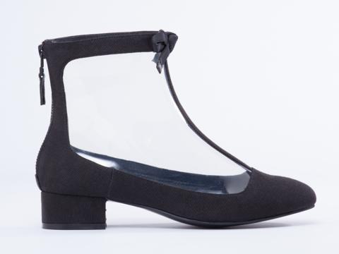 Chloe Sevigny For Opening Ceremony In Black Grossgrain Vinyl Boot