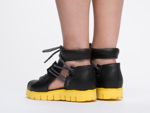Chromat In Black Sport Lace Up Sandal