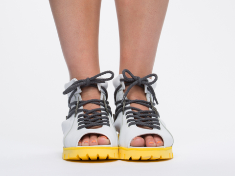 Chromat In White Grey Sport Lace Up Sandal