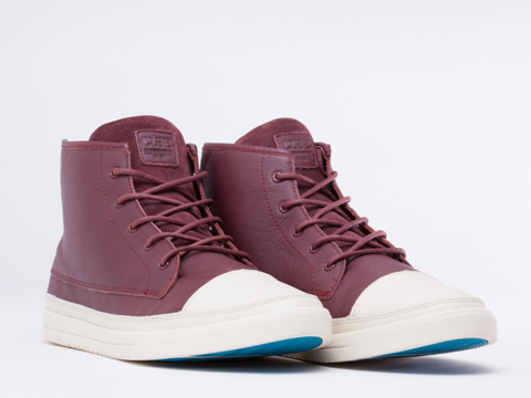 Clae In Oxblood Cream Chambers