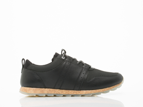 Clae In Black Leather Nylon Canvas Mills