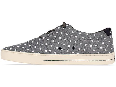 Clae In Charcoal Polka Dot Canvas Newman