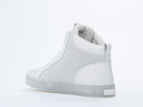 Clae In White Perf Leather Russell