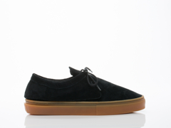 Clear Weather In Black Suede Gum Santora Mens