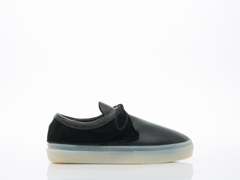 Clear Weather In Black Leather Ice Santora Womens