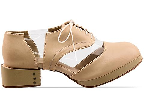 Deandri In Nude Clear Archie Oxfords
