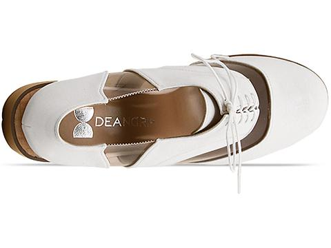 Deandri In White Clear Archie Oxfords