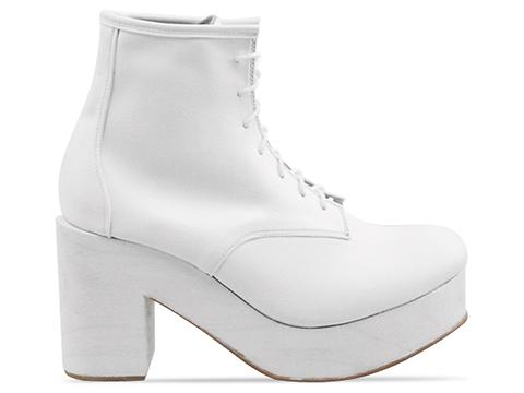 Deandri In White On White Wood Gertie Boots