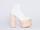Deandri In White Natural Tequila Platforms
