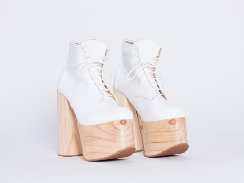 Deandri In White Natural Tequila Platforms