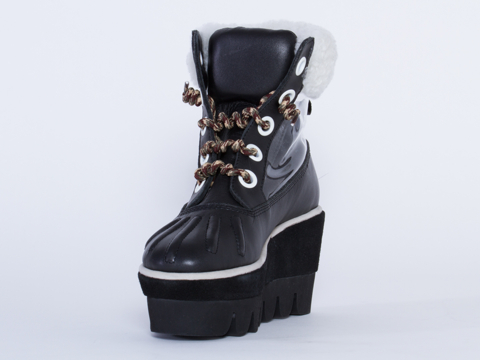 Degen In Black Platelette Boot