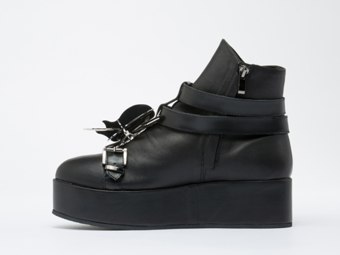 Depression In Black Beetle High Cut Creepers Mens