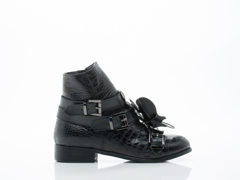 Depression In Black Beetle High Cut Shoes 2.0