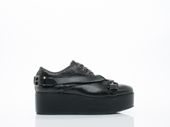Depression In Black Strap Buckle Creepers 2.0