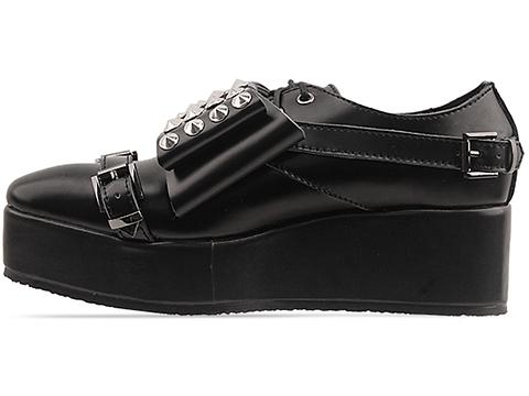 Depression In Black Transformer Creepers Studded Bow Mens