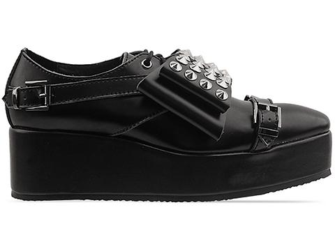 Depression In Black Transformer Creepers Studded Bow Womens
