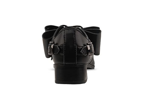 Depression In Black Transformer Shoes Studded Bow Womens