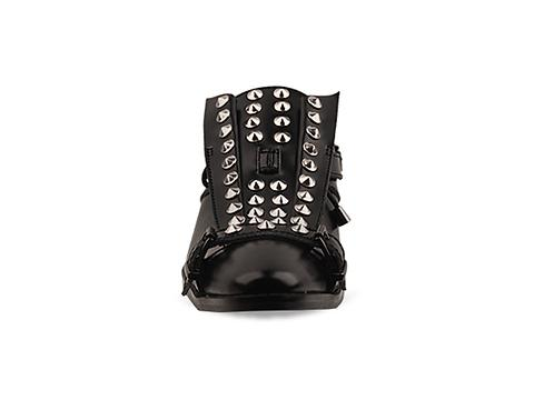 Depression In Black Transformer Shoes Studded Mens