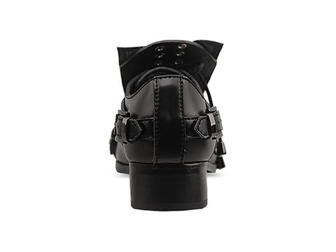 Depression In Black Transformer Shoes Studded Womens