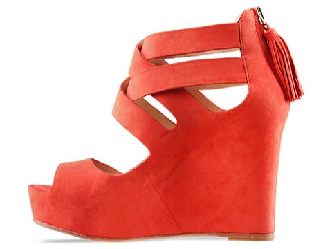 Dolce Vita In Red Suede Jade