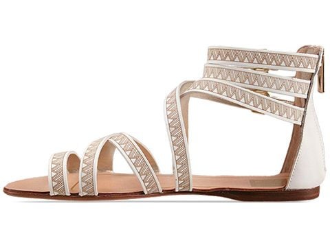 Dolce Vita In White Lazer Cut Marquez