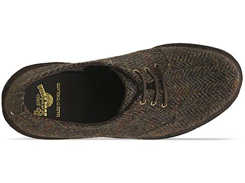 Dr. Martens Made In England In Taupe Harris Tweed 1461