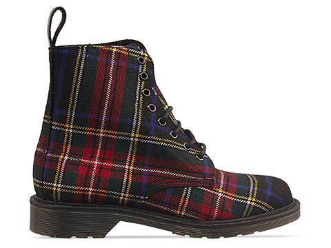 Dr. Martens Made In England In Black Stewart Tartan Beckett