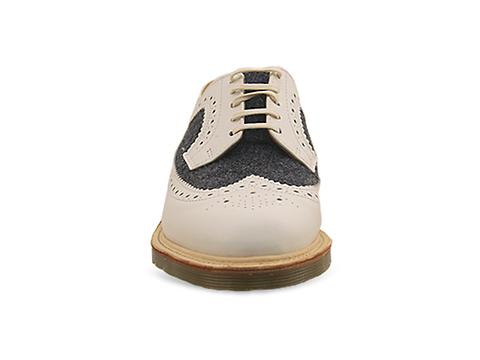 Dr. Martens Made In England In White Blue Mie 3989