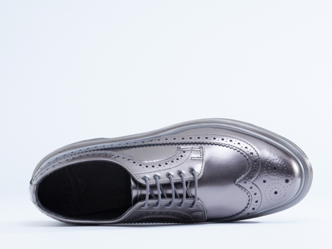 Dr. Martens In Pewter Spectra Patent 3989 Mens