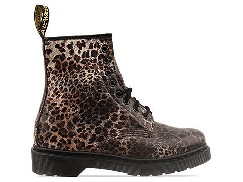 Dr. Martens In Leopard Print 8 Eye Boot