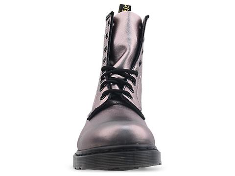 Dr. Martens In Pewter Metallic Nappa 8 Eye Boot