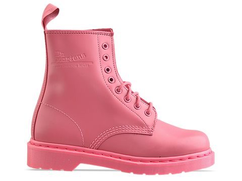 Dr. Martens In Pink Rose 8 Eye Boot