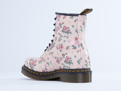 Dr. Martens In Pink Vintage Rose 8 Eye Boot