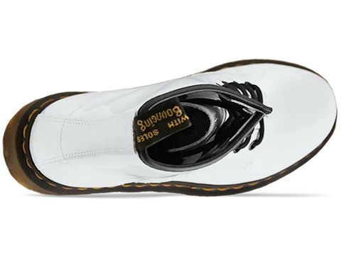 Dr. Martens In White Patent 8 Eye Boot