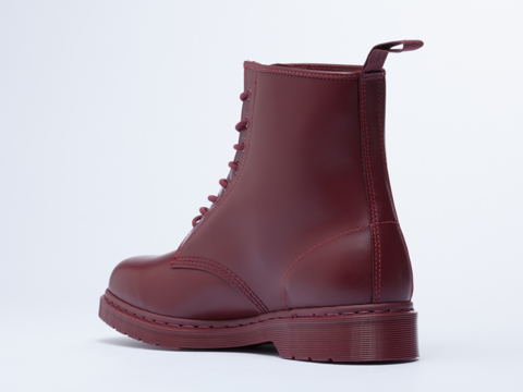 Dr. Martens In Cherry Red Monochrome 8 Eye Boot Mens