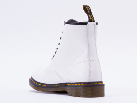 Dr. Martens In White Smooth 8 Eye Boot Mens
