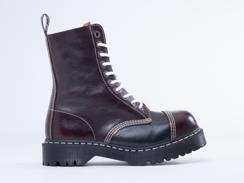 Dr. Martens In Cherry Red Blue 8761 BXB Boot