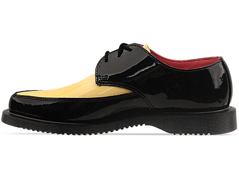 Dr. Martens In Black Acid Yellow Patent Arien