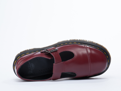 Dr. Martens In Cherry Red Polished Bethan