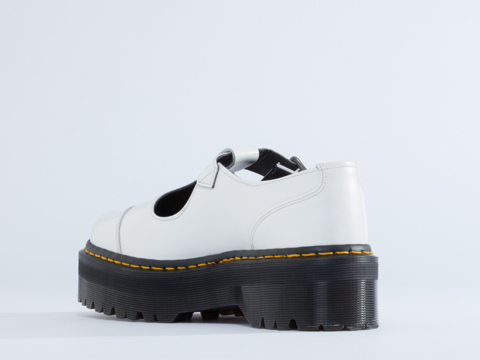 Dr. Martens In White Polished Bethan